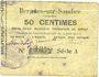 Banknotes Bergues-sur-Sambre (02). Commune. Billet. 50 cmes 9.6.1915, série A