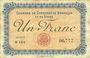 Banknotes Besançon (25). Chambre de Commerce. Billet. 1 franc 2.8.1915, série N 164