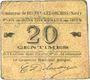 Banknotes Beuvry-Les-Orchies (59). Commune. Billet. 20 cmes 1915