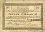 Banknotes Bohain (02). Ville. Billet. S.Q.G., 2 francs 8.8.1916