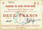 Banknotes Boiry-Notre-Dame (62). Commune. Billet. 2 francs 31.1.1915