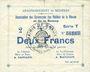 Banknotes Braux (08), Arrondissement de Mézières, billet, 2 francs, série T, 18.11.1914 et 19.1 et 25.3.1915