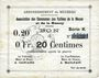 Banknotes Braux (08). Arrondissement de Mézières. Billet. 20 cmes, série K, 18.11.1914 et 19.1.1915