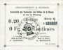 Banknotes Braux (08). Arrondissement de Mézières. Billet. 20 cmes, série Q, 18.11.1914 et 19.1 et 25.3.1915