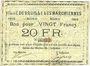 Banknotes Bruille-lez-Marchiennes (59). Ville. Billet. 20 francs 1914. N° 62 !