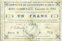 Banknotes Cagnicourt (62). Commune. Billet. 1 franc, émission 1915, série B