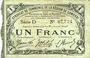 Banknotes Cambrai (59). Syndicat de Communes de la Région de Cambrai. Billet. 1 franc 10.5.1916, série D