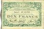 Banknotes Cambrai (59). Syndicat de Communes de la Région de Cambrai. Billet. 10 francs 10.5.1916, série I