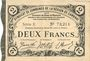 Banknotes Cambrai (59). Syndicat de Communes de la Région de Cambrai. Billet. 2 francs 10.5.1916, série E