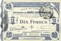 Banknotes Cambrai (59). Ville. Billet. 10 francs 30.10.1914, 2e série : 2,5 mm