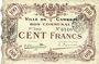 Banknotes Cambrai (59). Ville. Billet. 100 francs 8.1.1916, 1ère série
