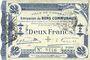 Banknotes Cambrai (59). Ville. Billet. 2 francs 30.10.1914, 2e série : 2,5 mm