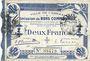 Banknotes Cambrai (59). Ville. Billet. 2 francs 30.10.1914, impression bleu foncé
