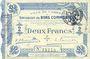 Banknotes Cambrai (59). Ville. Billet. 2 francs 30.10.1914, impression bleu pâle
