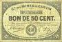 Banknotes Carvin (62). Compagnie des Mines de Carvin. Billet. 50 cmes