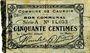 Banknotes Cauroir (59). Commune. Billet. 50 cmes 16.12.1915, série A