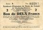Banknotes Charleville et Mézières (08). Syndicat d'Emission de  Bons de Caisse. 2 francs 11.3.1916, série A