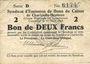Banknotes Charleville et Mézières (08). Syndicat d'Emission de  Bons de Caisse. 2 francs 11.3.1916, série D