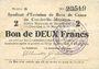 Banknotes Charleville et Mézières (08). Syndicat d'Emission de  Bons de Caisse. 2 francs 11.3.1916, série G