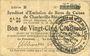 Banknotes Charleville et Mézières (08). Syndicat d'Emission de  Bons de Caisse. 25 cmes 11.3.1916, série B
