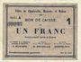 Banknotes Charleville, Mézières et Mohon (08). Billet. 1 franc 3.7.1915, série A
