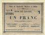 Banknotes Charleville, Mézières et Mohon (08). Billet. 1 franc 3.7.1915, série B