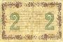 Banknotes Chateauroux (36). Chambre de Commerce. Billet. 2 francs 6.4.1915, série C