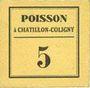 Banknotes Chatillon-Coligny (45). Poisson. Billet. 5 centimes