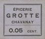 Banknotes Chavanay (42). Epicerie Crotte. Billet. 5 cmes, type avec erreur : Grotte