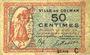 Banknotes Colmar (68). Ville. Billet. 50 centimes 15.12.1918, série C