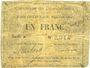 Banknotes Courchelettes (59). Commune. Billet. 1 franc, émission 1914, série A