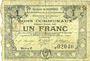 Banknotes Courrières (62). Commune. Billet. 1 franc, émission janvier 1916, série E