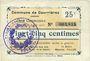 Banknotes Courrières (62). Commune. Billet. 25 centimes, émission août 1915