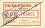 Banknotes Courrières (62). Compagnie des Mines. Billet. 5 francs du 15.12.1914, série C-X