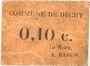 Banknotes Dechy (59). Commune. Billet. 10 centimes