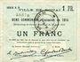 Banknotes Douai (59). Ville. Billet. 1 franc 30.8.1914, série B6
