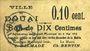 Banknotes Douai (59). Ville. Billet. 10 centimes 6.5.1915, papier chamois