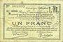 Banknotes Douai et Région de Carvin (59). Billet. 1 franc 22.5.1916, 6e série B