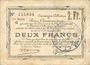 Banknotes Douai et Région de Carvin (59). Billet. 2 francs 22.5.1916, 2e série C