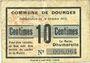 Banknotes Dourges (62). Commune. Billet. 10 centimes 18.10.1915