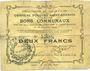 Banknotes Ecourt Saint-Quentin (62). Commune. Billet. 2 francs 20.12.1914