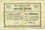 Banknotes Englancourt (02). Commune. Billet. B.R.U., 25 centimes