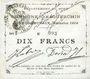 Banknotes Esquerchin (59). Commune. Billet. 10 francs, émission 1914, série H (papier blan uni)