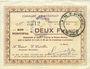 Banknotes Etréaupont (02). Commune. Billet. 2 francs 13.8.1915