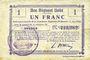 Banknotes Etreux (02). Commune. Billet. B.R.U., 1 franc
