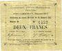 Banknotes Evin-Malmaison (62). Commune. Billet. 2 francs, émission 1915, série D