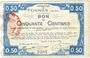 Banknotes Feignies (59). Billet. 50 centimes 29.4.1915