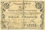 Banknotes Flavigny-le-Petit (02). Commune. Billet. S.Q.G., 2 francs 27.10.1917