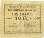 Banknotes Flers-en-Escrébieux (59). Commune. Billet. 10 francs, émission 1914, série J