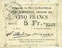 Banknotes Flers-en-Escrébieux (59). Commune. Billet. 5 francs, émission 1914, série C